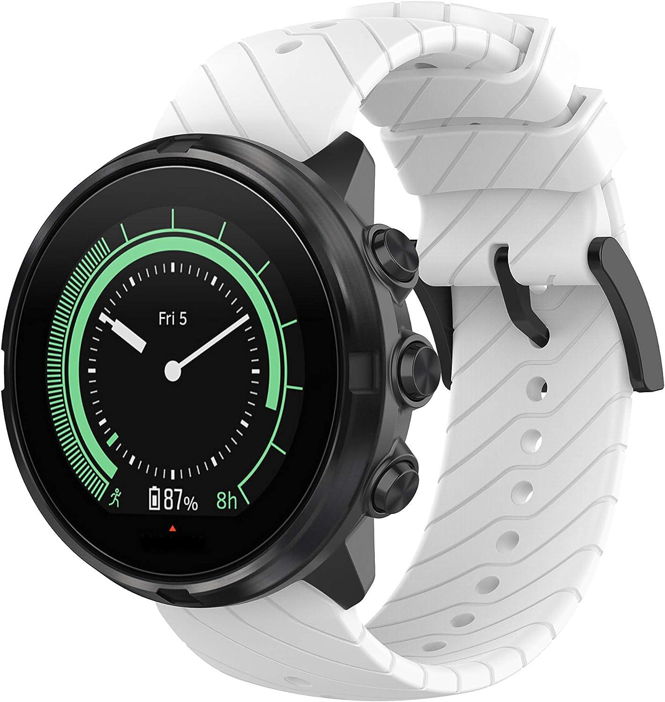 Bracelet pour Suunto Spartan Sport Wrist HR Baro//Suunto 9 Bande de Remplacement en Silicone Bracelets de Montres Poignet Sangle de Sports pour Suunto Spartan Sport Wrist HR Baro