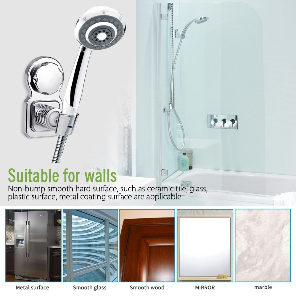 Vacuum Suction Cup Shower - Adjustable Head Holder Shower Stand ...