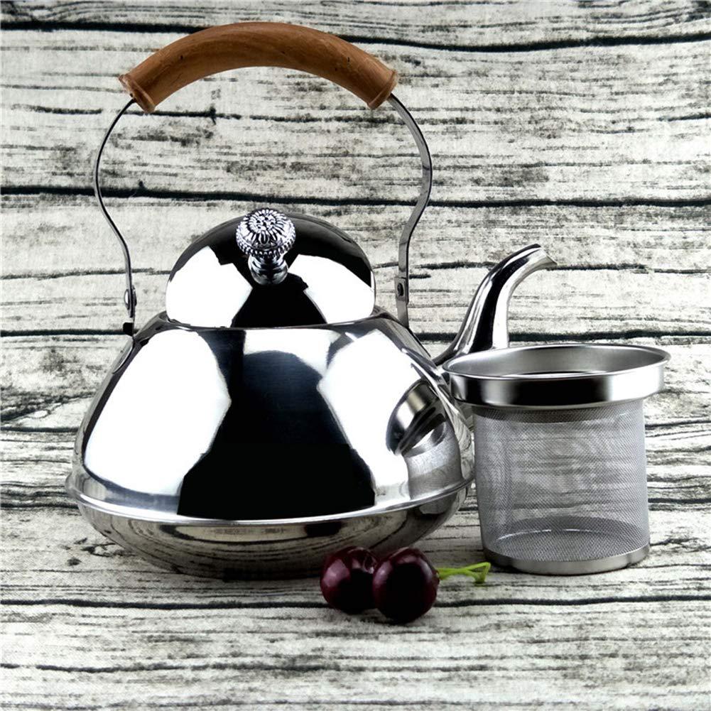 Silver 1.5l YGQersh Cuisine /à la Maison en Acier Inoxydable th/é Boisson Bouilloire Po/êle Po/êle Haut Safe Cookware