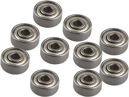 10 pcs 623ZZ Rodamientos de bolas en miniatura de metal blindado ...