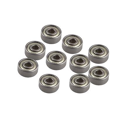 10 pcs 623ZZ Rodamientos de bolas en miniatura de metal ...