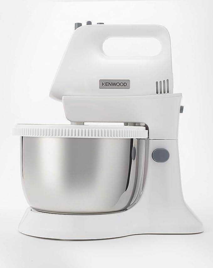 Kenwood Chefette Metal HMP34.A0WH - Batidora/amasadora de varillas con bol rotativo de metal, 450 W, 5 velocidades + turbo, varillas batidoras y ganchos para amasar, blanco: Amazon.es: Hogar