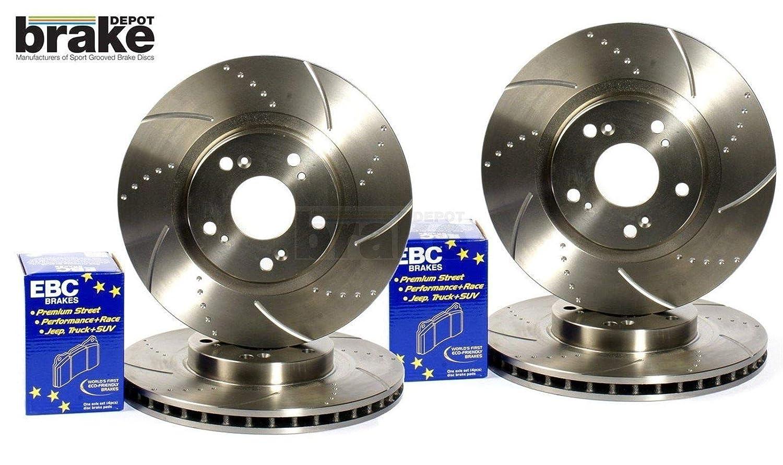 Starlet GT Turbo delanteras y traseras con hoyuelos Grooved discos de freno EBC Ultimax - Almohadillas: Amazon.es: Coche y moto