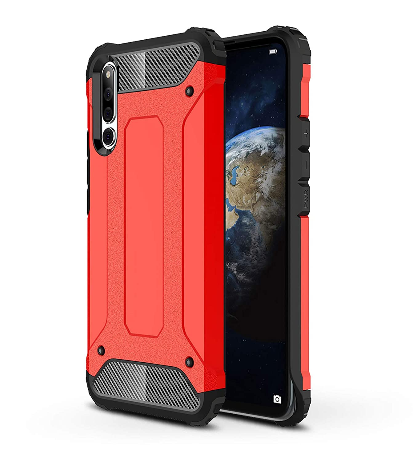 AOBOK Funda Honor Magic 2, Rojo Moda Armadura Híbrida Carcasa ...