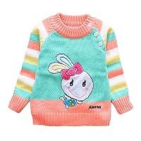 Little Hand Baby Jungen Mädchen Sweatshirt Pulli Lang Kinder Jumper Elefant&Kaninchen Bedruckt Pullover 80 86 92