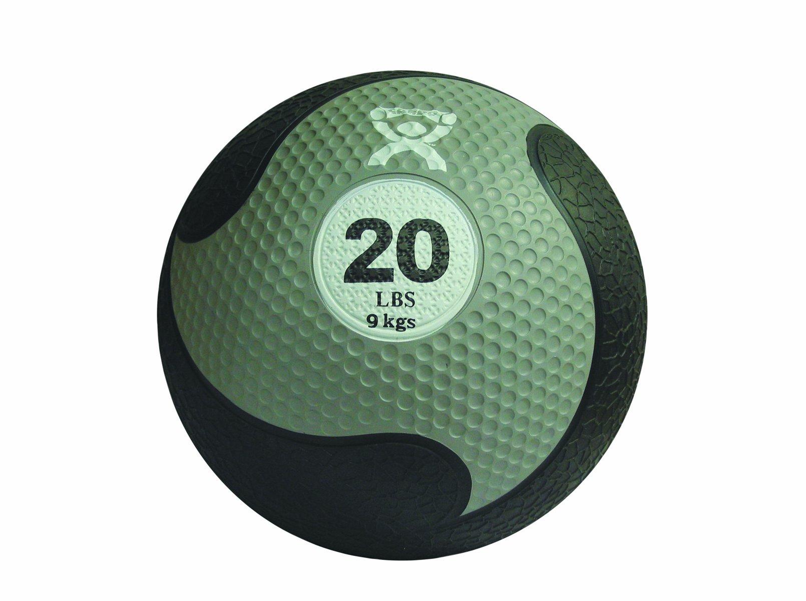 CanDo Rubber Medicine Ball, Silver