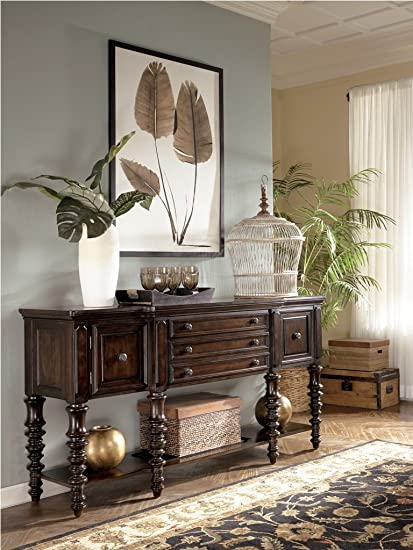 British Colonial Key Town Server In Brown Amazon Co Uk Kitchen Home