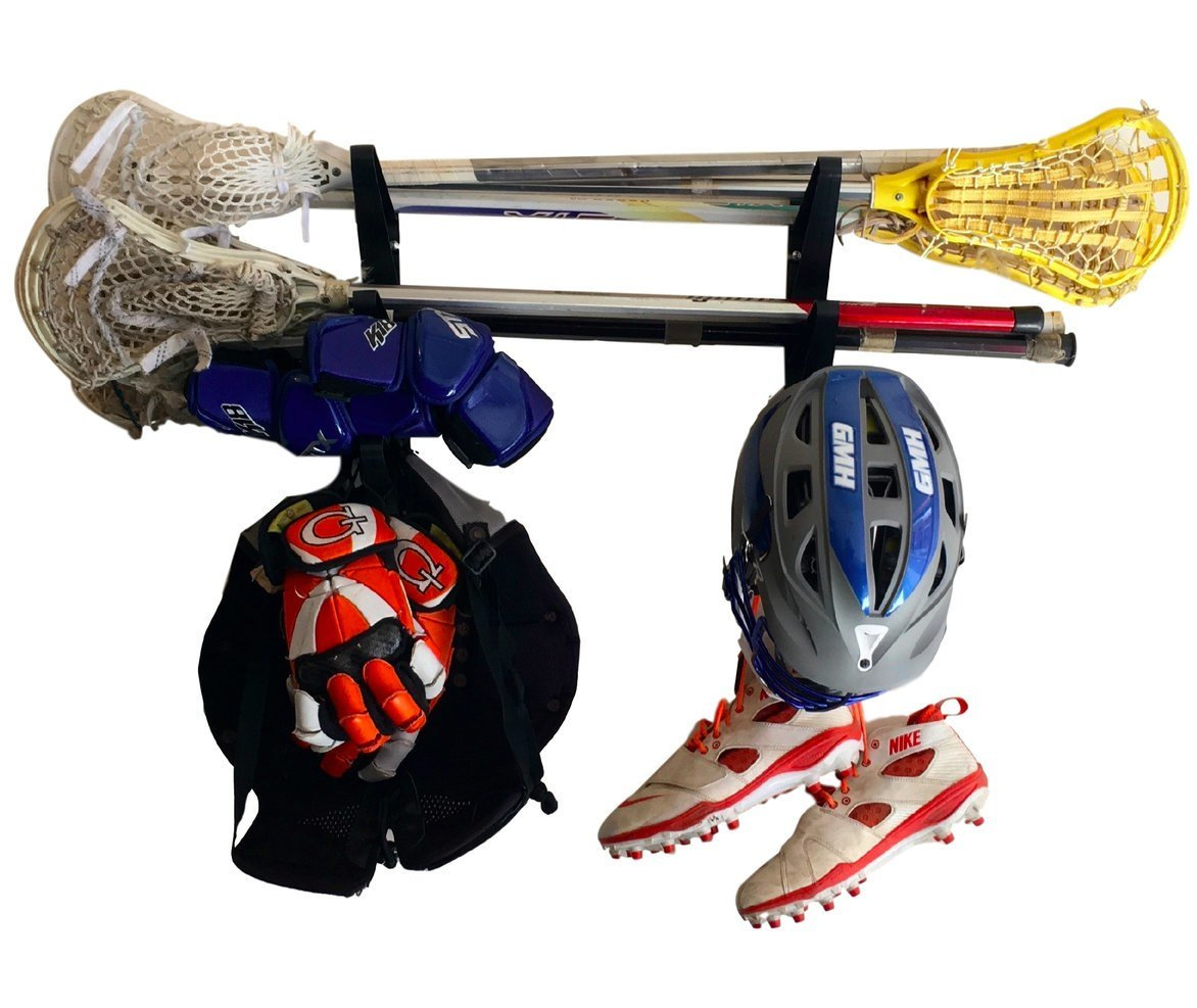 Lacrosse Stick Wall Storage Rack - Lax Sticks, Pads and Equipment Home & Garage Mount by StoreYourBoard (Image #1)