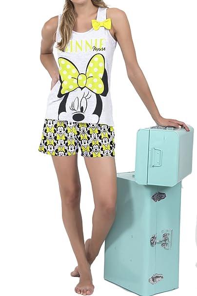 Pijama Tirantes Mujer Disney Minnie, Color Gris Jaspe, Talla M