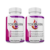 (2 Pack) Toxiburn Management Pills Liver Cleanse Diet Capsules Supplements Reviews Toxi Advanced Pills (120 Capsules)