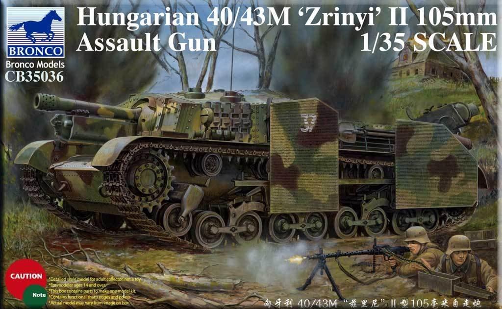 ブロンコモデル 1/35 ハンガリー 40/43M ズリーニィII型 105ミリ自走砲 プラモデル CB35036 B01MFCZTRW