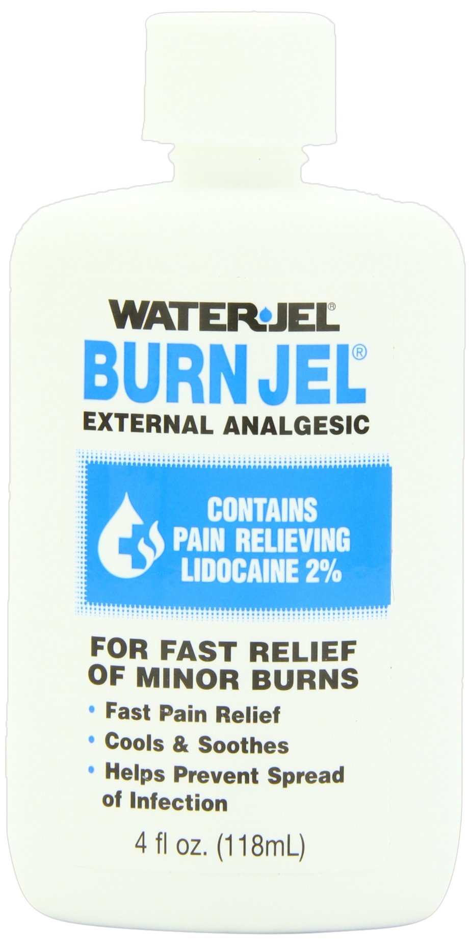 First Aid Only Water Jel Burn Jel Burn Relief, 4-Ounce Plastic Bottle (Pack of 3) by First Aid Only