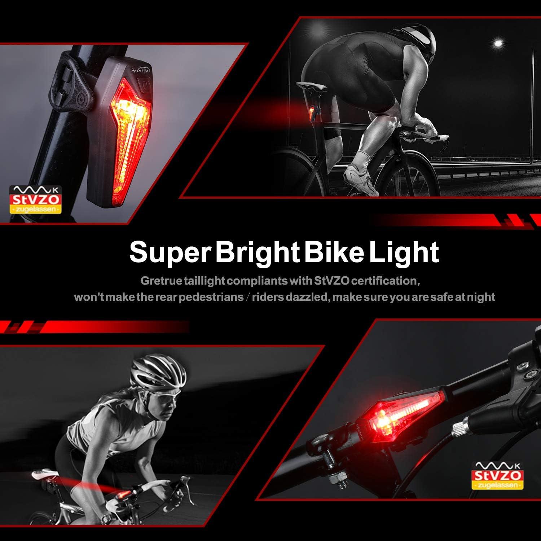 Fahrrad Rücklicht Gretrue Stvzo Fahrrad Ruecklicht Zugelassen Ultra Hell Led Usb Aufladbar Wasserdichte Fahrradlicht Rücklichter Fahrradlampe Fahrradrücklicht Für Rennrad Mtb Sport Freizeit