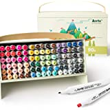 Arrtx Markers, ALP 90 Colors Alcohol Markers with Dual Tips, Artist Grade Marker Pen for Coloring, Drawing, Comic, Anime, Man