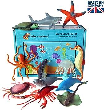 Figuras Marina Animal - Caja de 12: Amazon.es: Juguetes y juegos