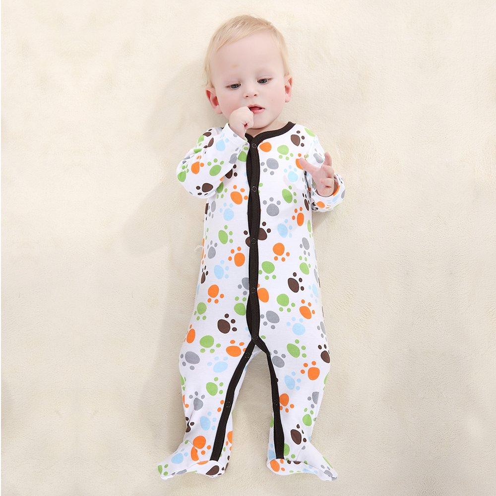 walmeck bebé mono Pelele Conjunto Unisex 100% algodón Mono Footsies ropa para recién nacido bebé niño 6 - 9 m: Amazon.es: Hogar