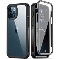 GOODON iPhone 12 Pro Max Case with Built-in Screen Protector,Pass 20 ft. Drop Test Military Grade Shockproof Clear Cover…