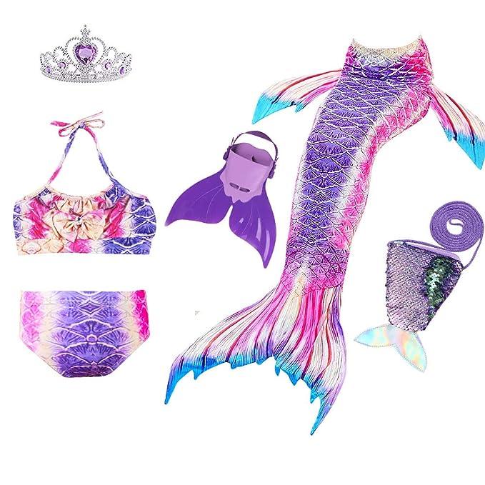 JoyChic Sirena Aleta para Nadar Sirena Bikini Set Traje de ...