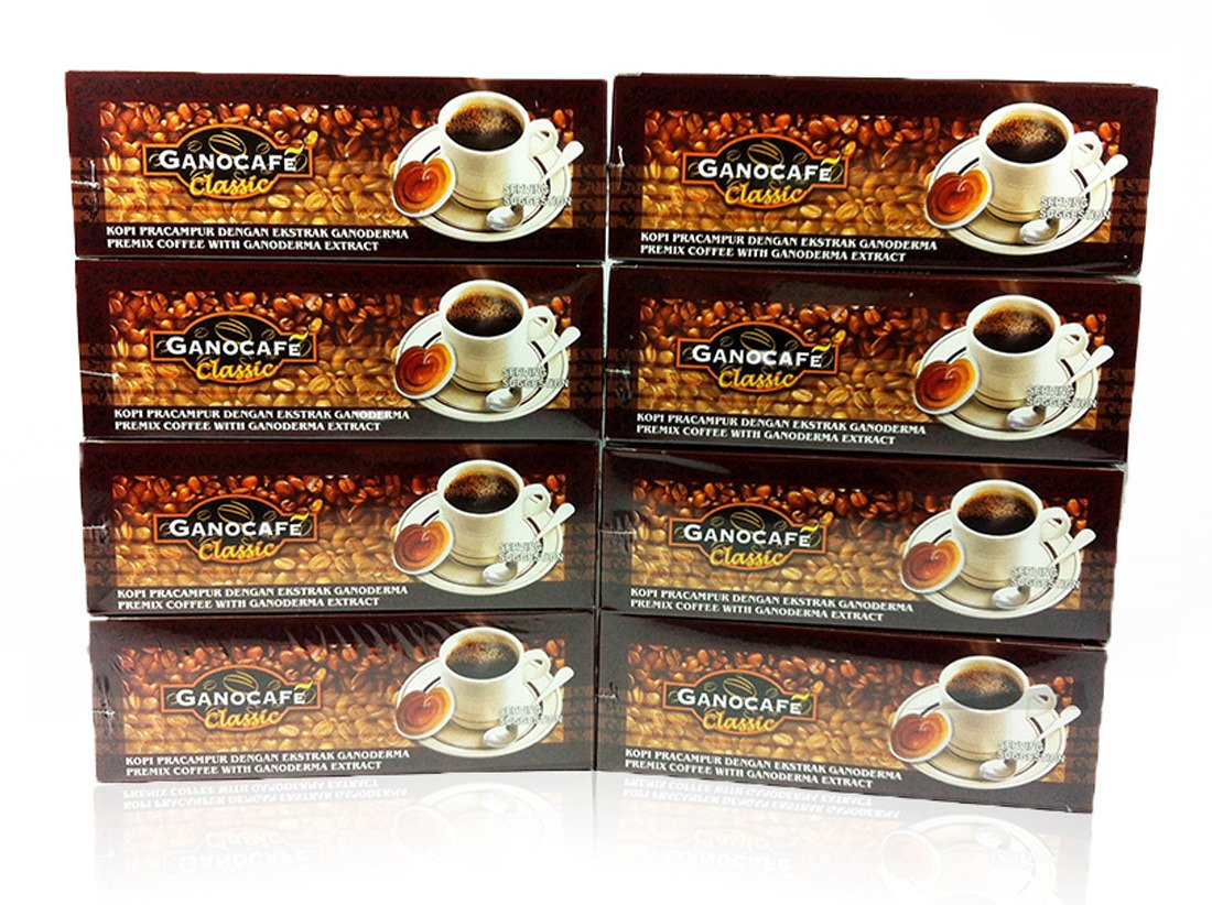 8x Gano Excel Ganocafe Black Coffee Classic No Sugar Healthy Instant Coffee + FREE Zrii Premix Rise Coffee + FREE Expedited Shipping by Gano Excel