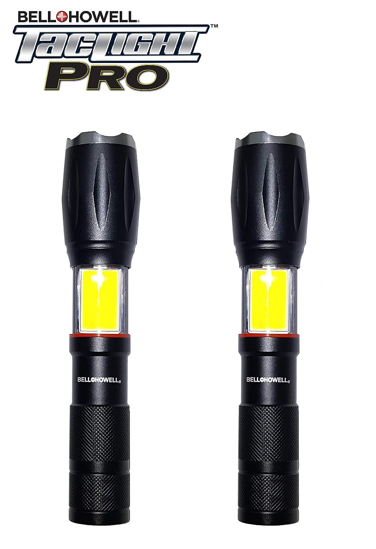 40x Brightness Howell TACLIGHT PRO Lantern Flashlight Magnetic Base with Zoom Set of 2 Bell