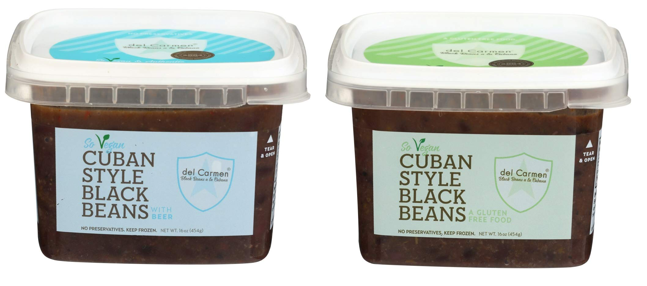 del Carmen Cuban Style Black Beans Variety Pack, 16 oz. 6 of each: Cuban Style with Beer & Gluten Free Cuban Style (Pack of 12)