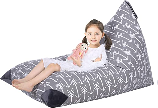Stuffed Animal Bean Bag Chair Kids Toy Storage Organizer Stuffie Seat,Extra Large Super Soft Velvet Floor Chair Sofa Toy Storage Bean Bag Chair Seat for Kids Teens and Adults