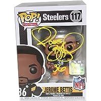 Jerome Bettis Autographed Pittsburgh NFL Funko Pop #117 BAS photo