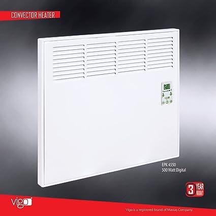Vigo calentador eléctrico 1000 W Blanco Digital