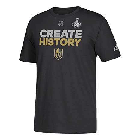 fc42cfede0e adidas Vegas Golden Knights 2018 NHL Stanley Cup Finals Create History T- Shirt (X