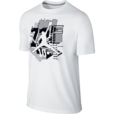f982bd24f0a3 Jordan AJ XI Jumpman Men s T-Shirt White Black 747632-100 (Size XS ...