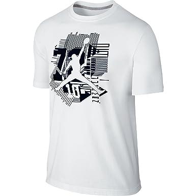 48a7b590a79d Jordan AJ XI Jumpman Men s T-Shirt White Black 747632-100 (Size XS ...