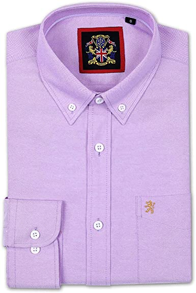Camisa de manga larga para Hombres, Modelo English Oxford Cuello ...