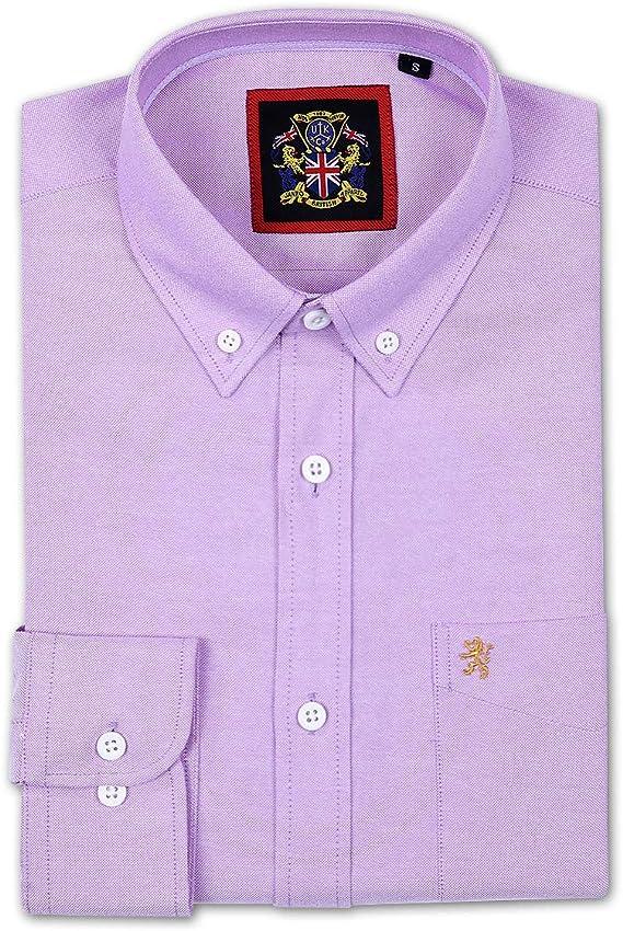 Camisa de manga larga para Hombres, Modelo English Oxford Cuello ...