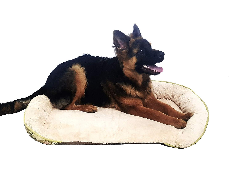 Takestop® Cuccia in Pile 95x69cm per Animali Domestico Cani Gatti Cane Tappetino Morbido Lettino Cuscino Imbottito Divano Trama Casuale
