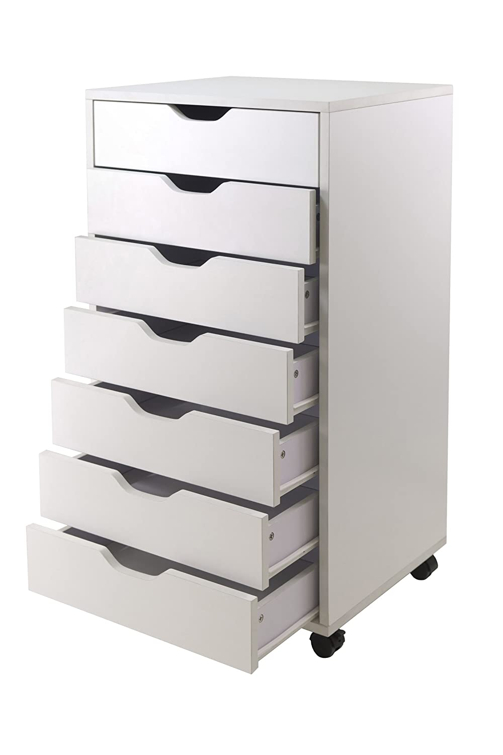 Amazon.com: Winsome Halifax Cabinet for Closet/Office, 7 Drawers ...