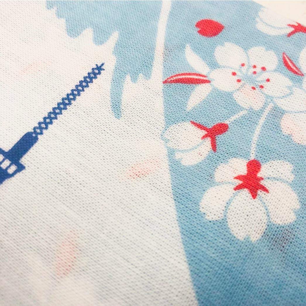 Sakura Fuji Frontia Cotton Towel Cloth Handkerchief Tenugui 18.9x18.9 Japanese Silhouette