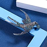 AILUOR Lovely Crystal Swallow Brooch