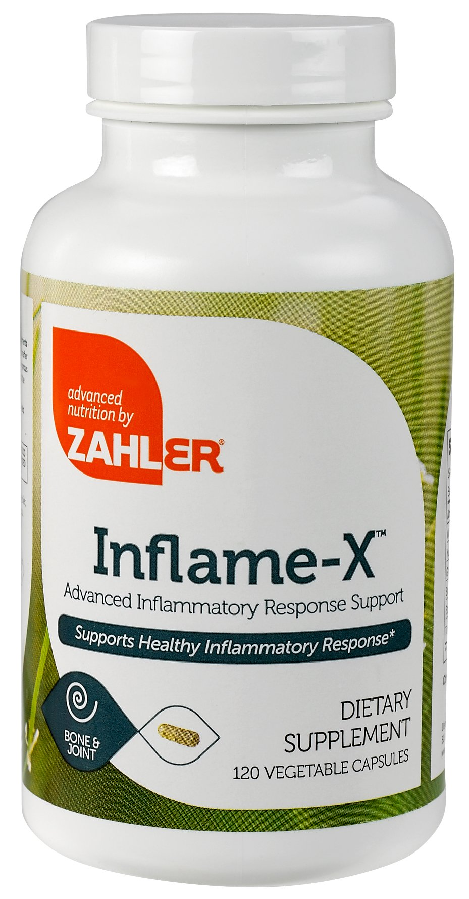 Zahler Inflame-X, Advanced Inflammation Reducer, Contains Turmeric Boswellia and much more which acts as a powerful Anti-Inflammatory Supplement, Certified Kosher, 120 Capsules by Advanced Nutrition by Zahler