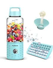 Personal Blender, PopBabies Travel Blender for single, USB Rechargeable Small Blender for Shakes and Smoothies Stronger and Faster with Ice Tray Funnel and Recipe(FDA and BPA free)