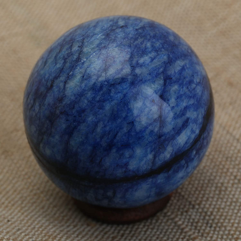 Natural de cristal Sodalita la bola de cristal de piedras preciosas Reiki esfera de la bola de sanación y meditación 55-60 MM