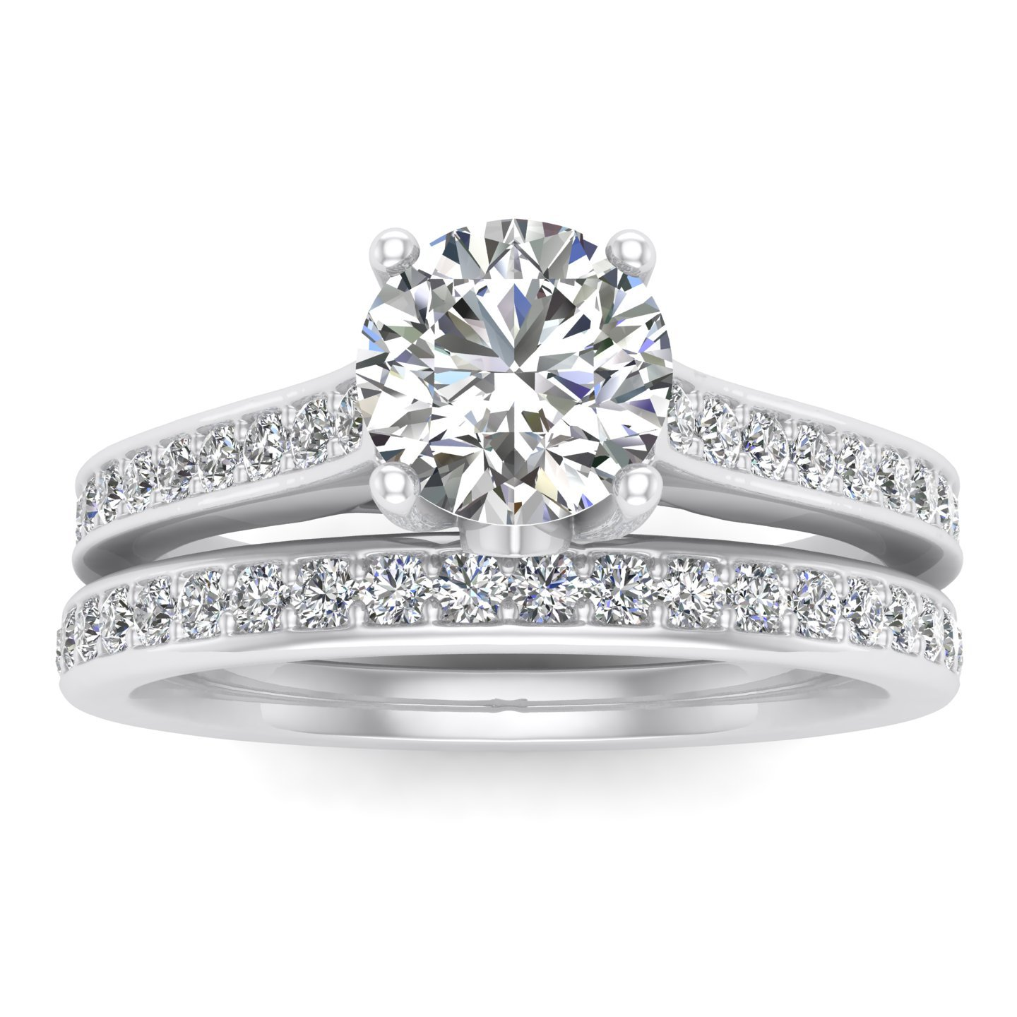 5/8ct Diamond Bridal set in 10k White Gold (10K Gold, L-M, I2-I3, 5/8ctw)