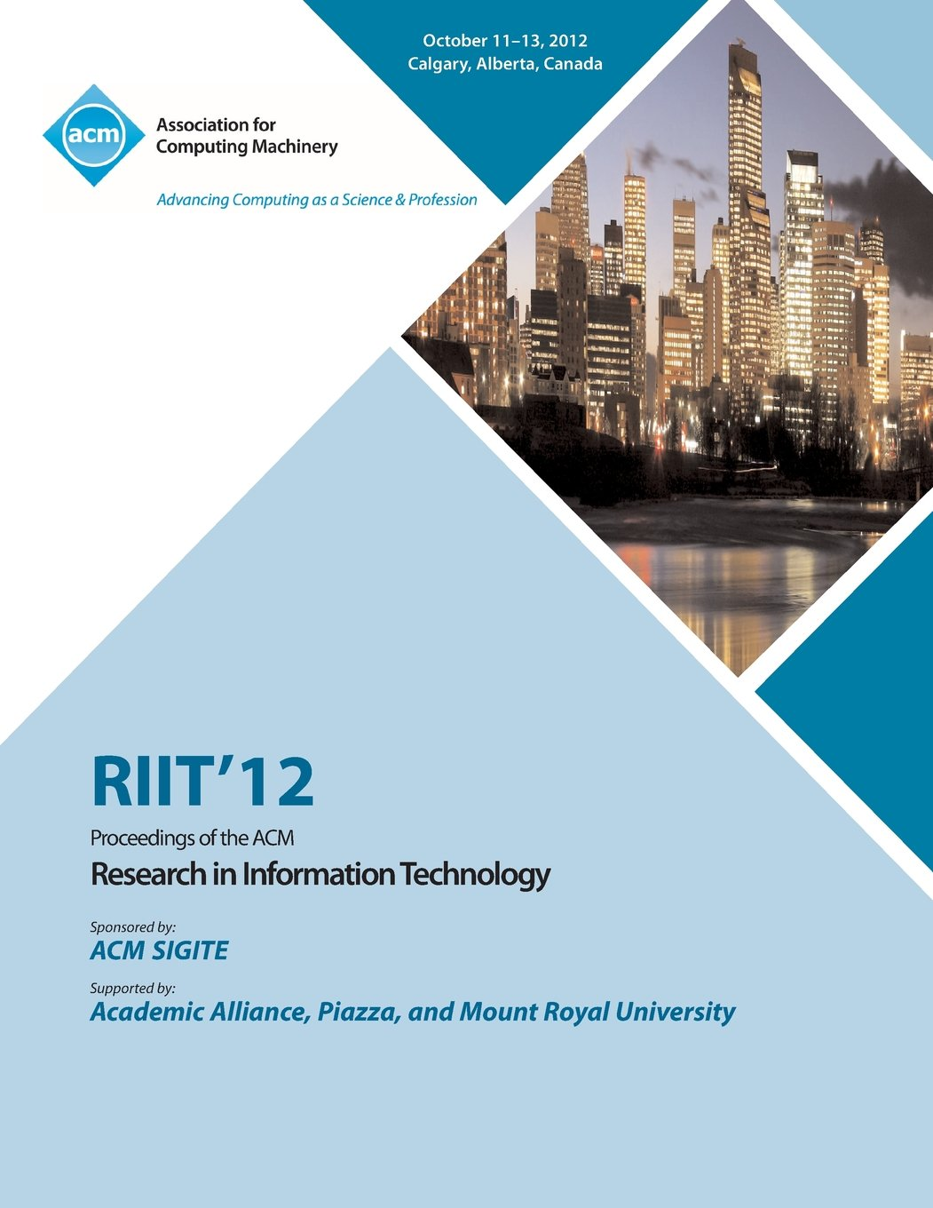 Riit 12 Proceedings of the ACM Research in Information Technology ebook