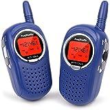 Walkie Talkies for Kids, 22 Channel FRS/GMRS Walkie Talkie 2 Way Radio 3 Miles UHF Walkie Talkies (1 Pair) Blue