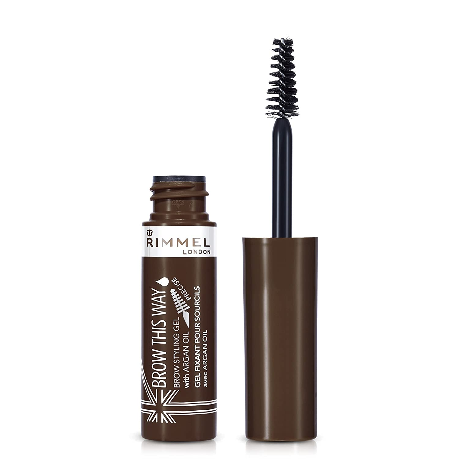 Rimmel London Brow This Way Gel With Argan Oil, Dark Brown, 5 ml Coty 34774208003