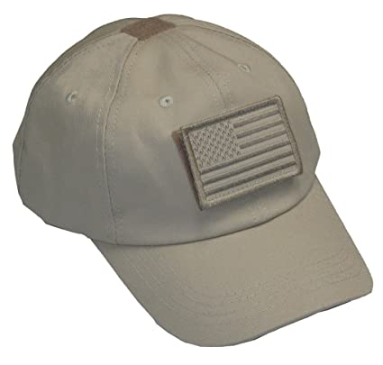 Mafoose Tactical Operator Contractor s Cap Hat with Removable USA Flag  Patch Khaki f9e5d979efe