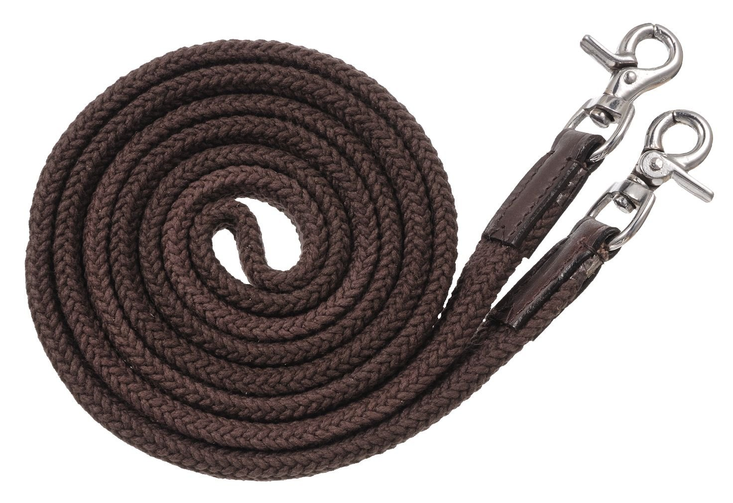 Tough 1 Royal King Deluxe Flat Roping/Contest Reins, Black JT International 54-910-2-0
