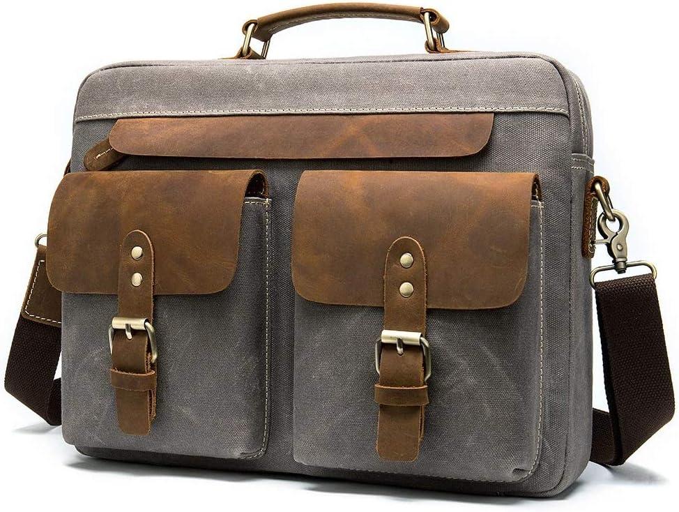 Canvas Casual Trend Cross Section Mens Bag Briefcase 36cm 8cm 27cm ...