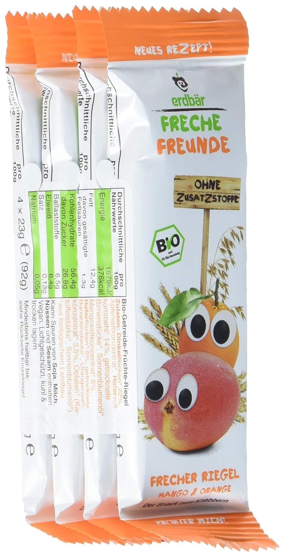 Freche Freunde Bio Riegel Mango & Orange, 6er Pack (6 x 92 g) erdbär GmbH 4347