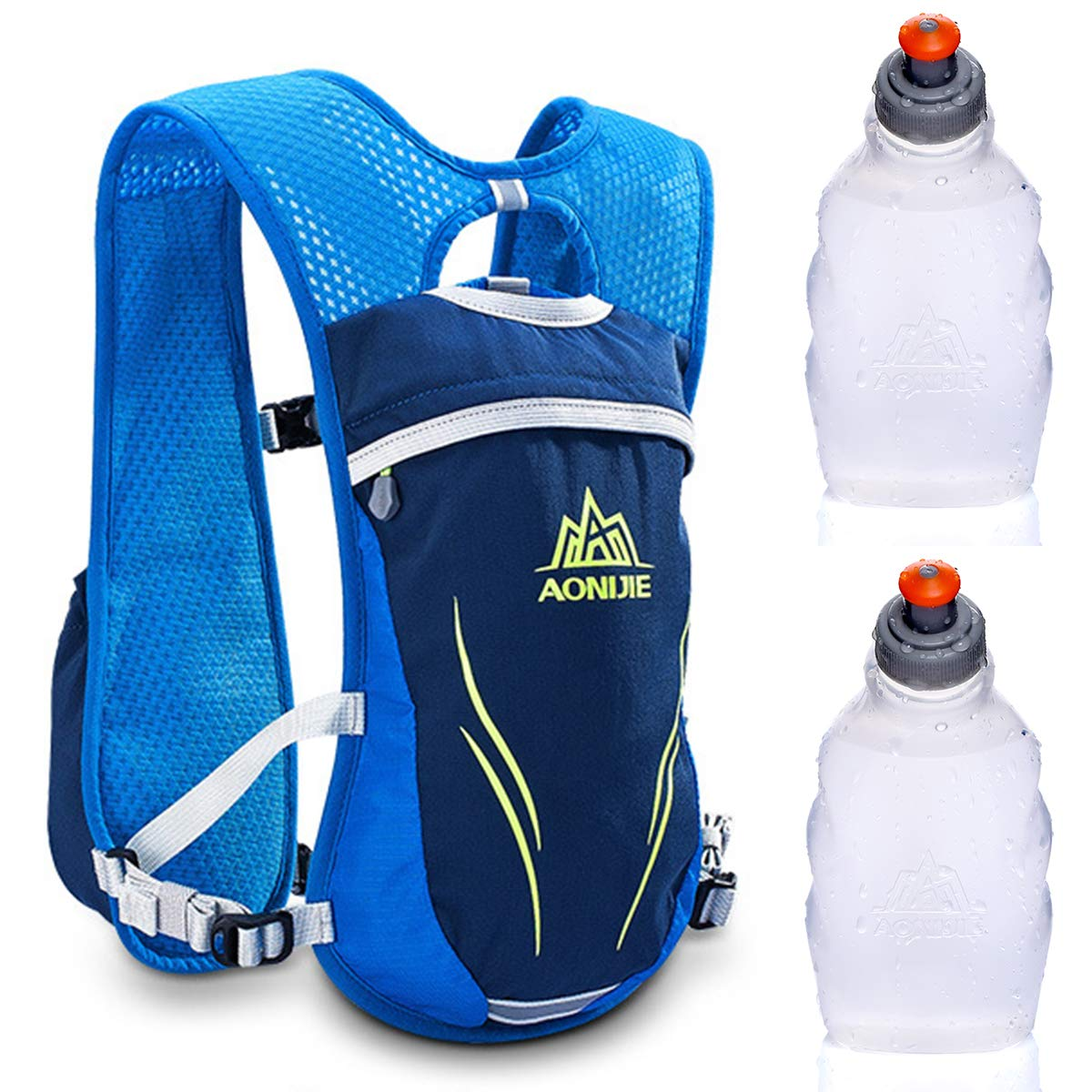 Amazon.com : Tianhaik Hydration Pack Backpack 5.5L Outdoors Mochilas Trail Marathoner Running Race Hydration Vest+with Bottle : Sports & Outdoors