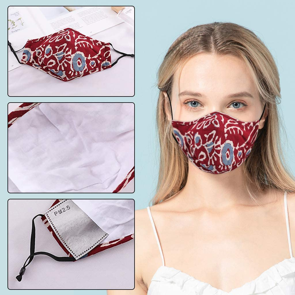 Navy Starne Pa/ñuelos faciales para Adultos Tela Tela Moda Dise/ño Vintage Lavable Reutilizable A Prueba de Polvo Anti Contaminaci/ón para Al Aire Libre